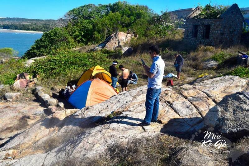 Cắm trại ở Kê Gà - một cảm giác thật khác biệt
