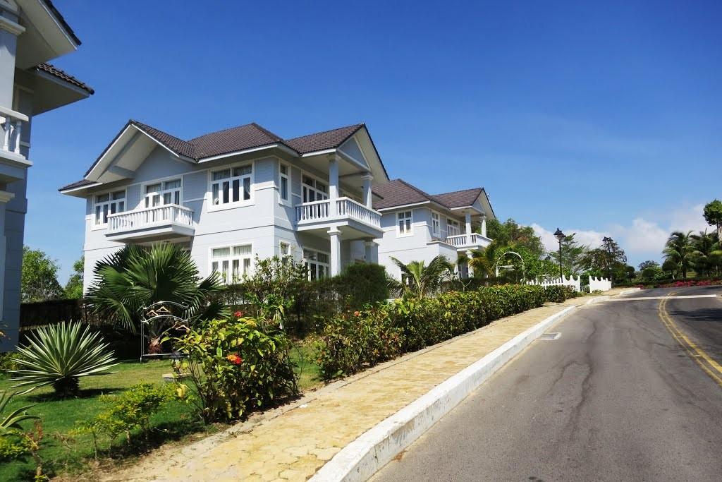 Các villa sang trọng nằm gần nhau