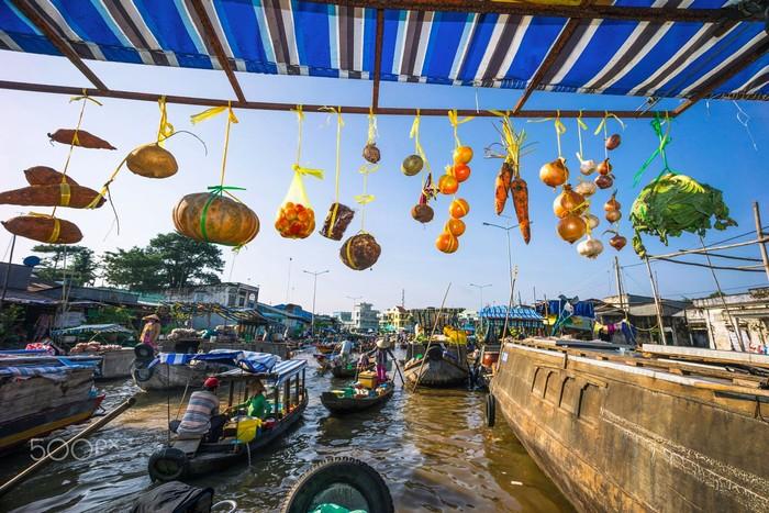 Chợ nổi Ngã Năm thành phố Sóc Trăng