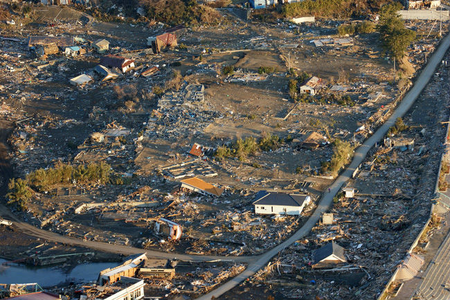 Hình ảnh vùng đất Tohoku đổ nát sau trận động đất cách đây 5 năm ở Nhật Bản.