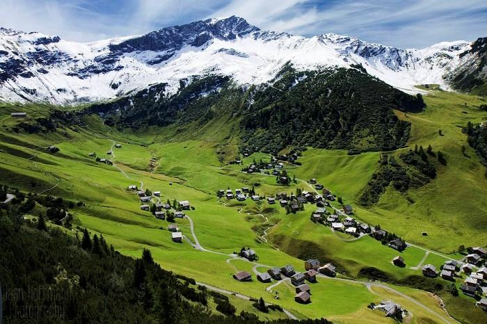 Thung lũng xanh ở Liechtenstein