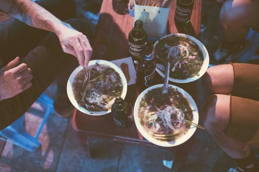 Phở và bia Hà Nội
