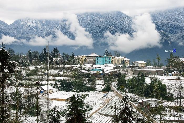 Mây giăng, tuyết phủ - Ảnh: Ngô Huy Hòa