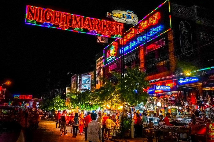 Khu chợ đêm Siem Reap rất sần uất