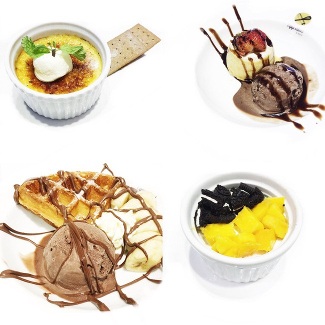 Waffles, Lava Cake - Số 7 Tôn Thất Thiệp/ Eggcellent & More. Giá: 85.000.