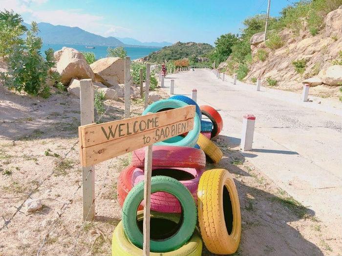 Cổng vào khu du lịch sinh thái Sao Biển