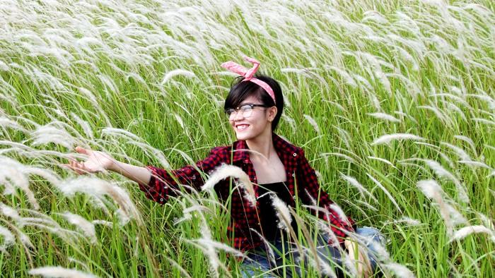 Miên man cùng cánh đồng lau trắng muốt ở Long An - Ảnh: Xuân Lộc