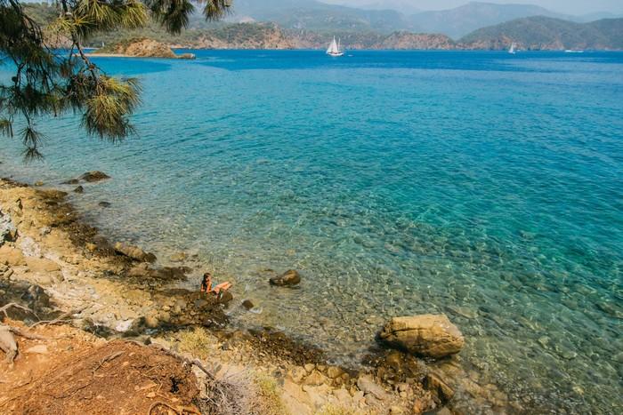 Một góc biển xanh mát vẹn nguyên nét hoang sơ
