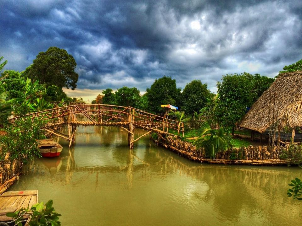 Cảnh vật thơ mộng, trữ tình tựa như miệt vườn miền Tây sông nước