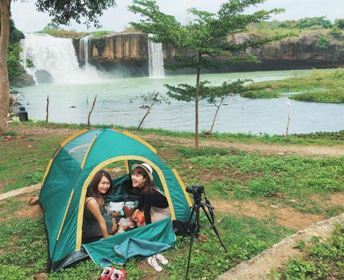 Cắm trại, ngắm cảnh ở thác Dray Nur
