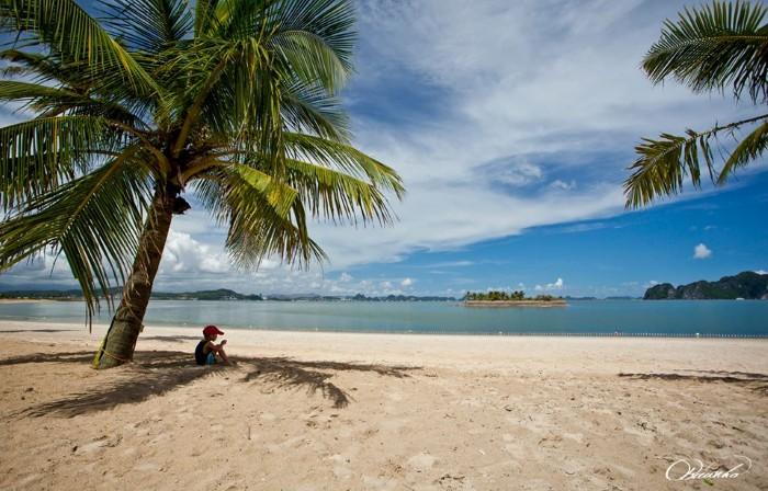 Đó là bãi tắm Tuần Châu đẹp mơ màng