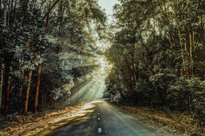 Đường đã mở, cùng phượt đi - Ảnh: Tran Phan Thanh