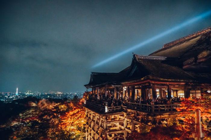 Cảnh đêm ở chùa Thanh Thủy - Ảnh: Lê Nhâm Quý