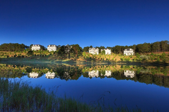 Hòa cùng không gian nên thơ ở các resort vùng ngoại ô