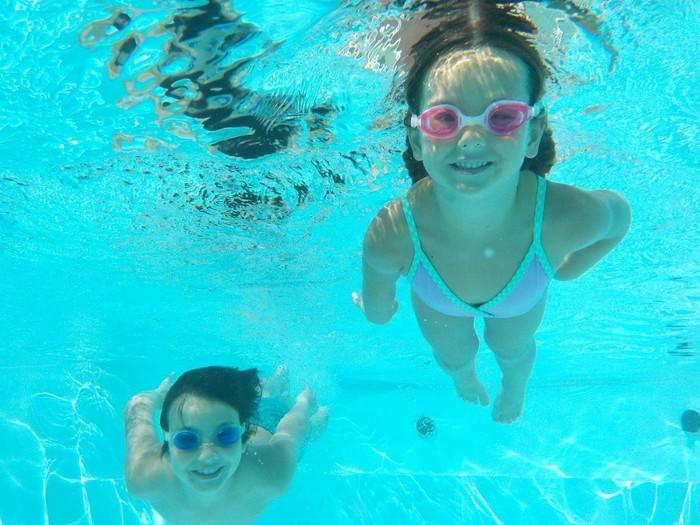 Có thể thực hành, tập luyện trước tại các hồ bơi