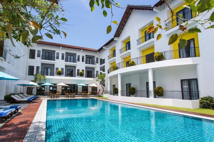 Khó có thể tìm ở đâu tại Hội An một khách sạn nghỉ dưỡng sở hữu khuôn viên rộng thoáng như ở Êmm.