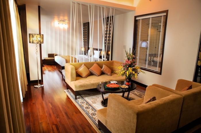 Hạ Long Palace có nội thất có gam màu đem lại cảm giác yên bình cho du khách