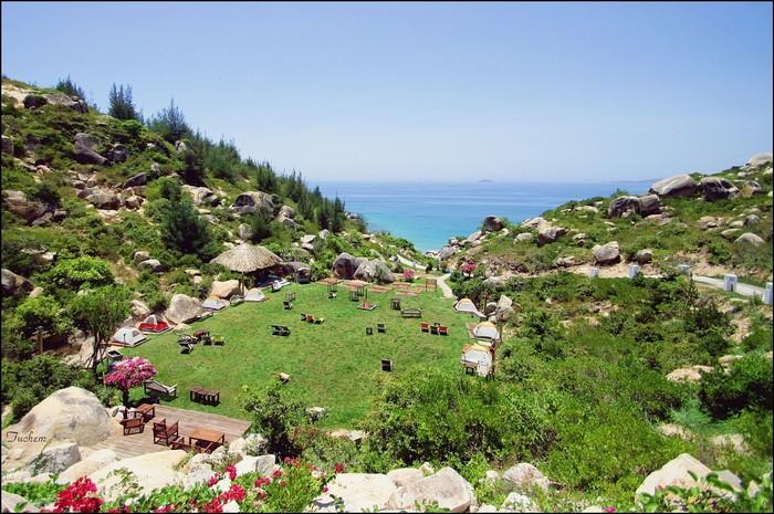 Hòa mình cùng sắc xanh của cỏ cây và trời biển