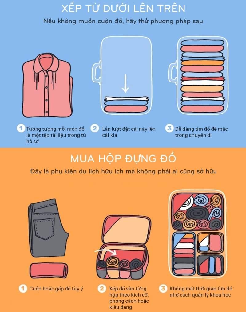8 mẹo sắp đồ để tiết kiệm khoảng trống trong vali 1
