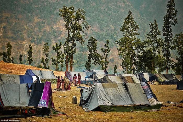 Theo truyền thống, người Raute ở trong các lều trại tạm bợ làm từ các cành cây tán lá và phủ nhiều tấm vải sắc màu lên trên