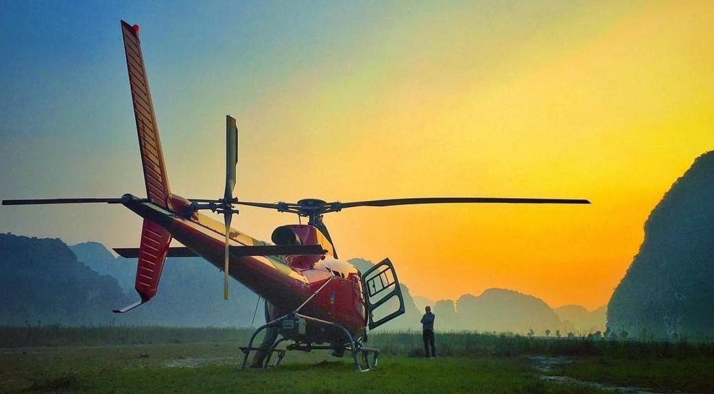 Chiếc phi cơ được dùng để thu lại những hình ảnh Ninh Bình từ trên cao.