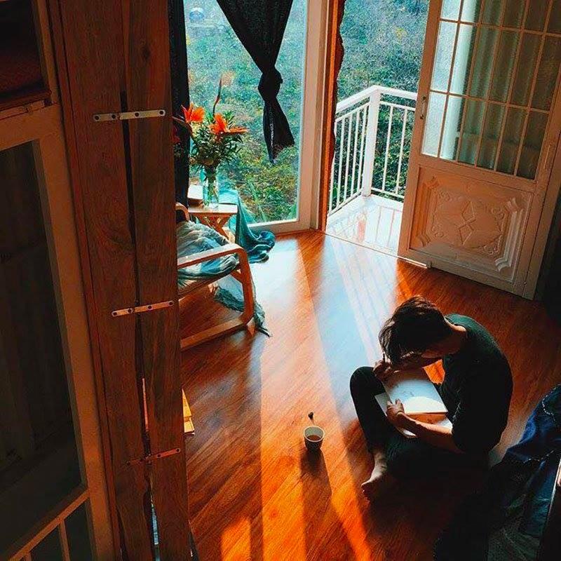 Khung cảnh yên tĩnh, thơ mộng và đầy ắp ánh sáng