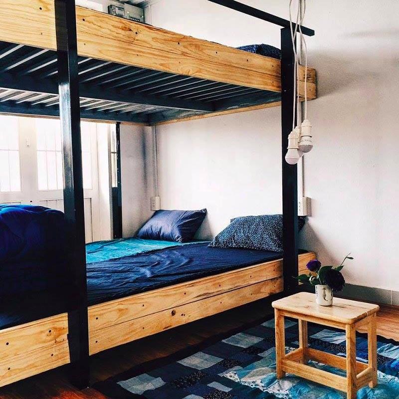 Phần giường tầng cùng cách bài trí gọn gàng