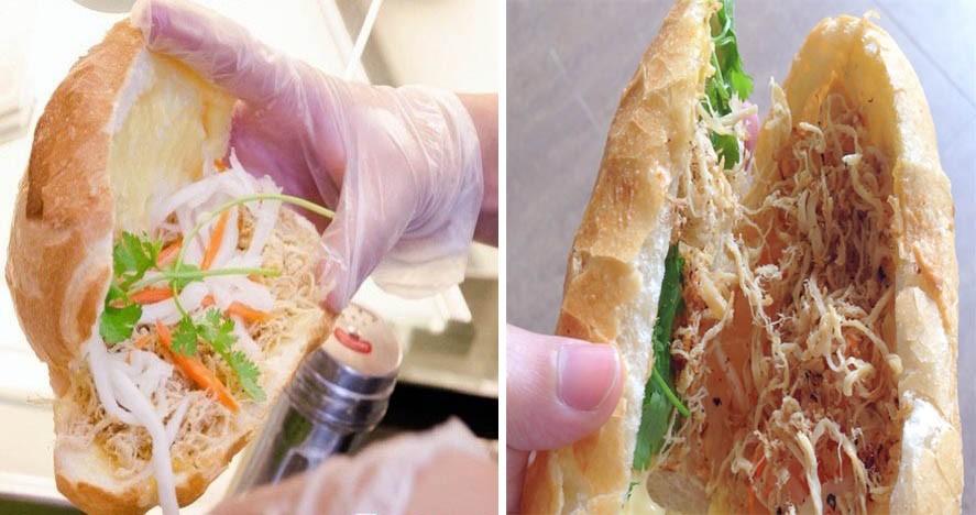 Cận cảnh vẻ hấp dẫn của món bánh mì gà Nhân Ngãi