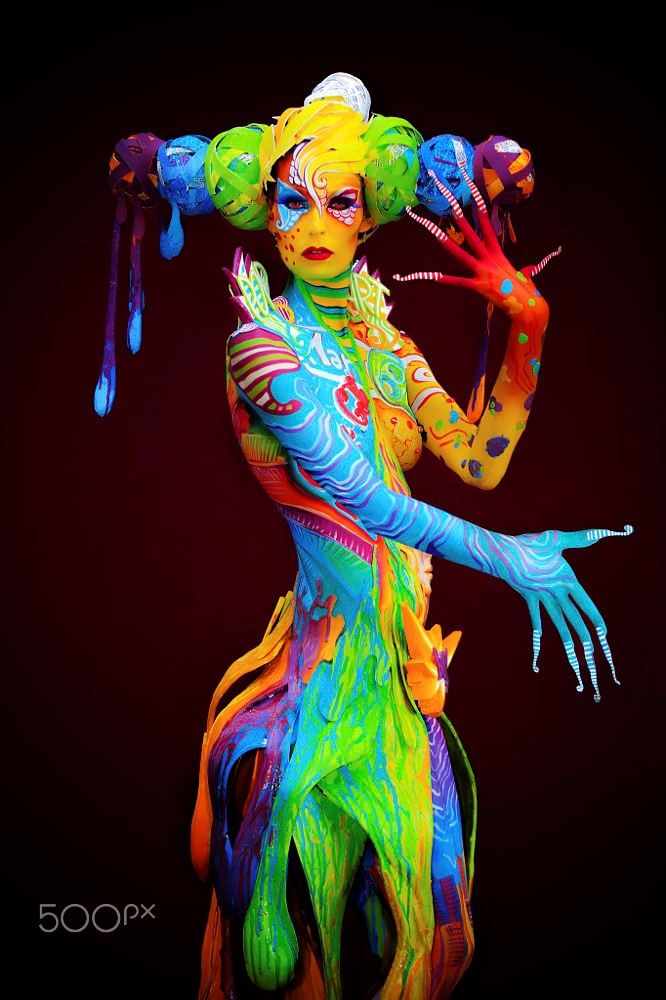 Tác phẩm nghệ thuật độc đáo trong lễ hội vẽ trên cơ thể người