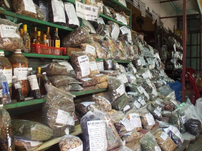 Nhiều loại thuốc nam được bày bán ở Sa Pa