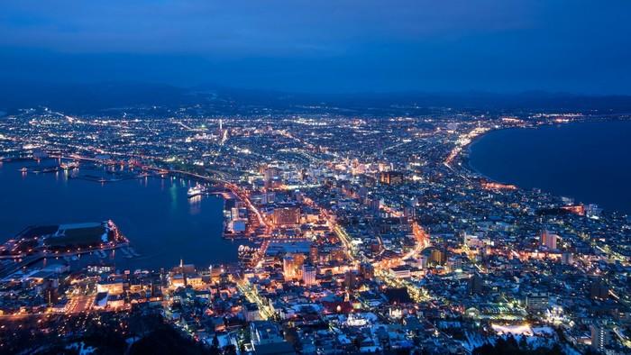 Từ đài quan sát chiêm ngưỡng vẻ đẹp của thành phố về đêm