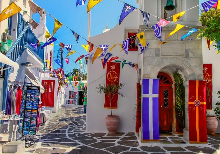 Cung đường trên đảo Mykonos