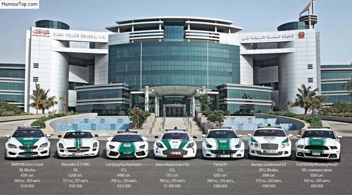 Những chiếc xe siêu đẹp và siêu đắt của lực lượng cảnh sát Dubai khiến nhiều người thèm nhỏ dãi.