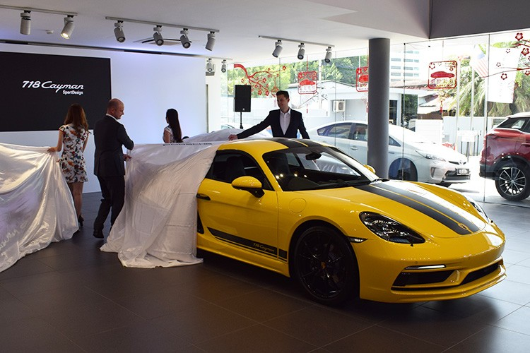 Porsche 718 Cayman SportDesign launch unveil