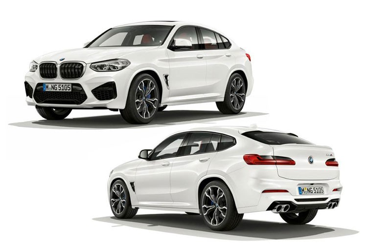 BMW X4M Exterior Front and Back 2019