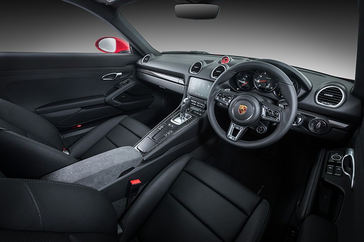 Porsche 718 Cayman SportDesign launch interior