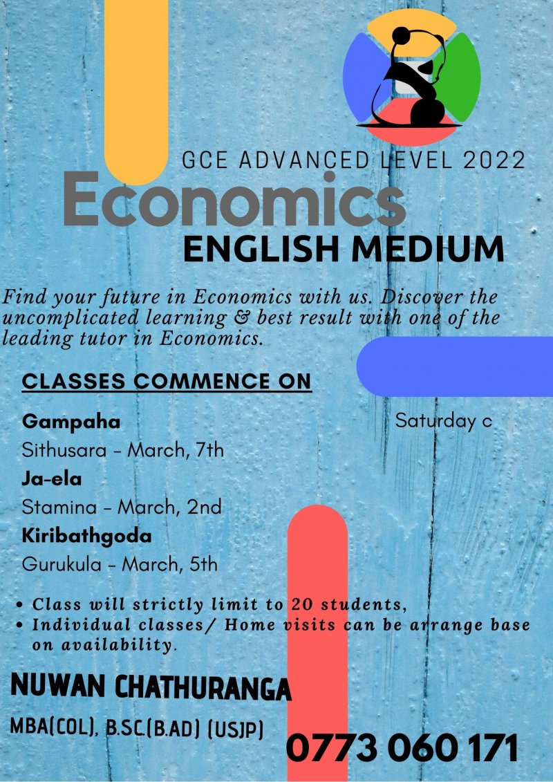 Economics - English Medium  Advanced Level