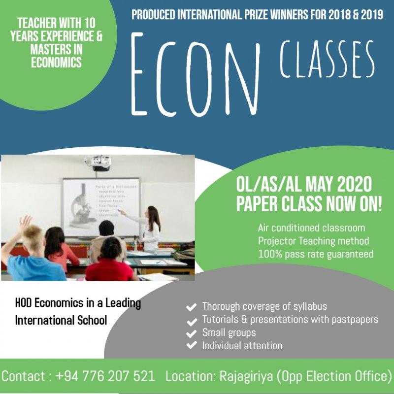 Economics Classes for Edexcel & Cambridge