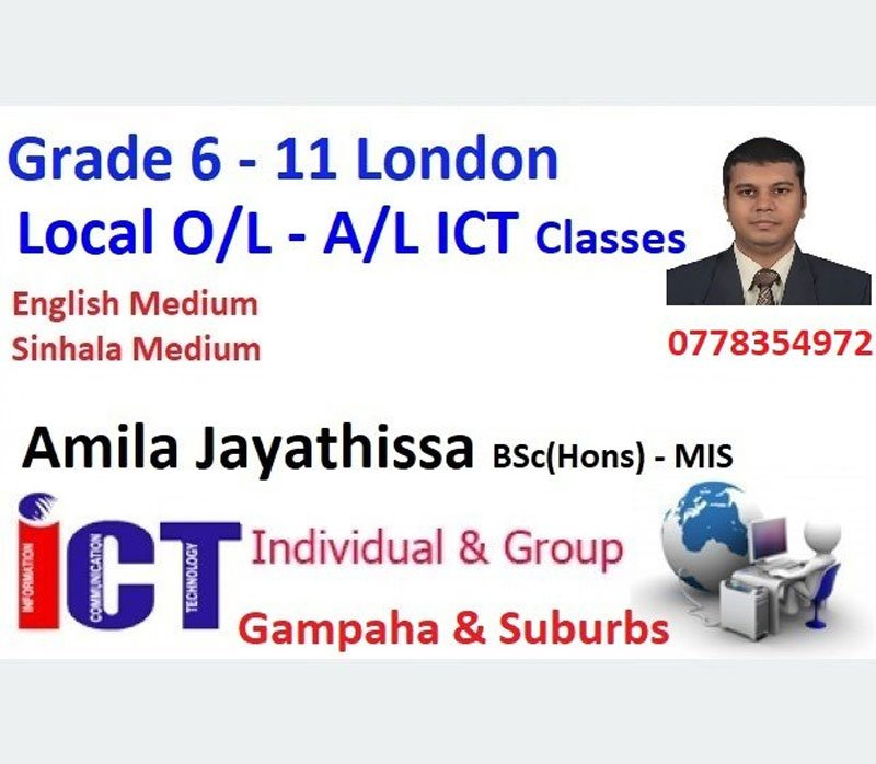 ICT Education for Grade 6 to 11 Local London O/L & A/L