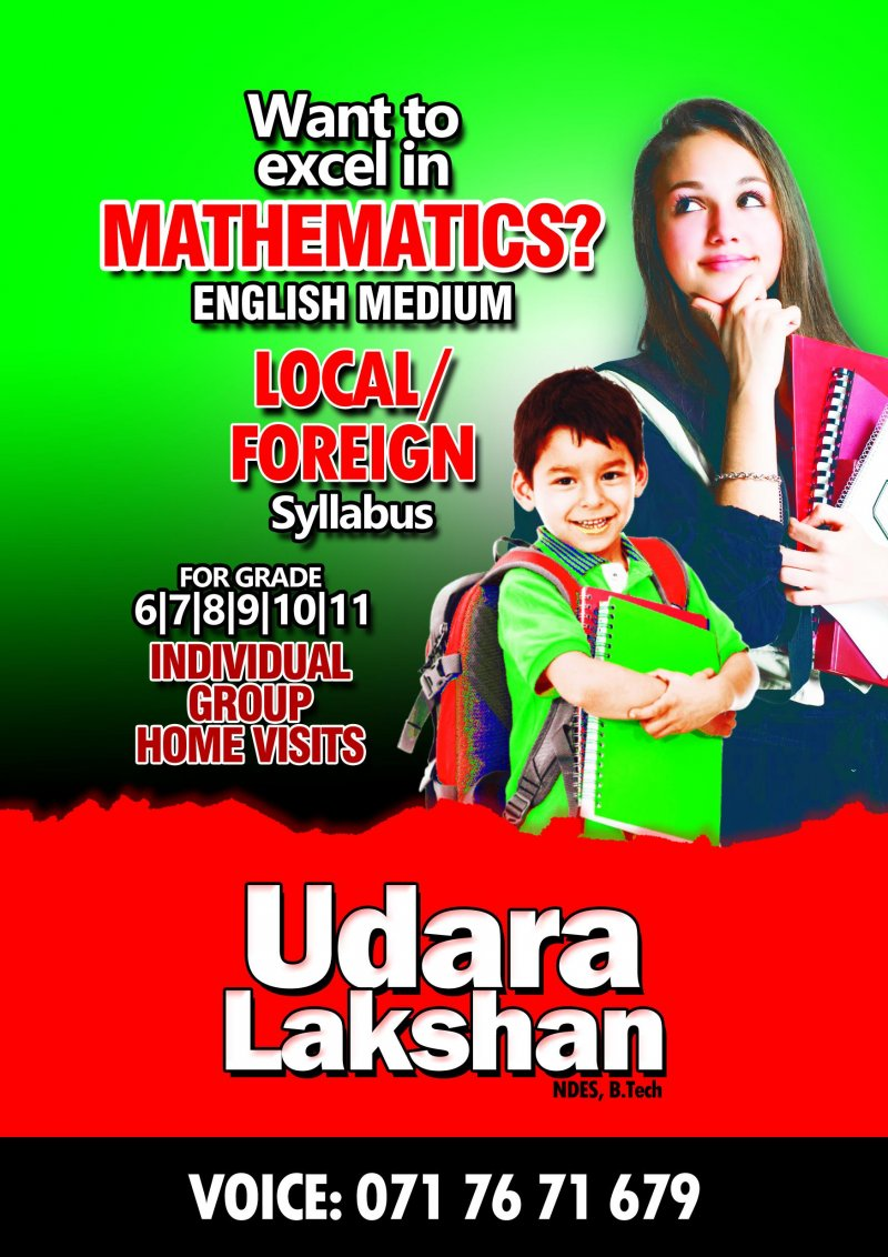 Online and Home Visits for Mathematics Grade 1- O/L  (International/Local)