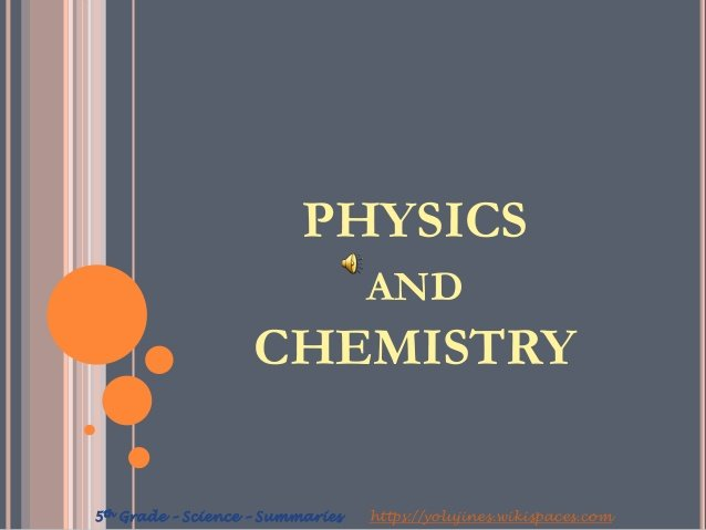 A/L Physics and chemistry
