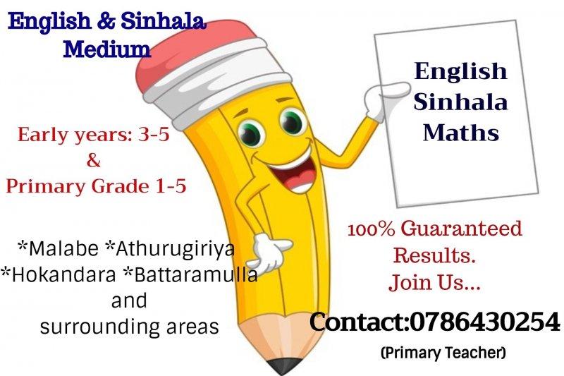 English/Sinhala/Mathematics/Buddhism Classes For Kids
