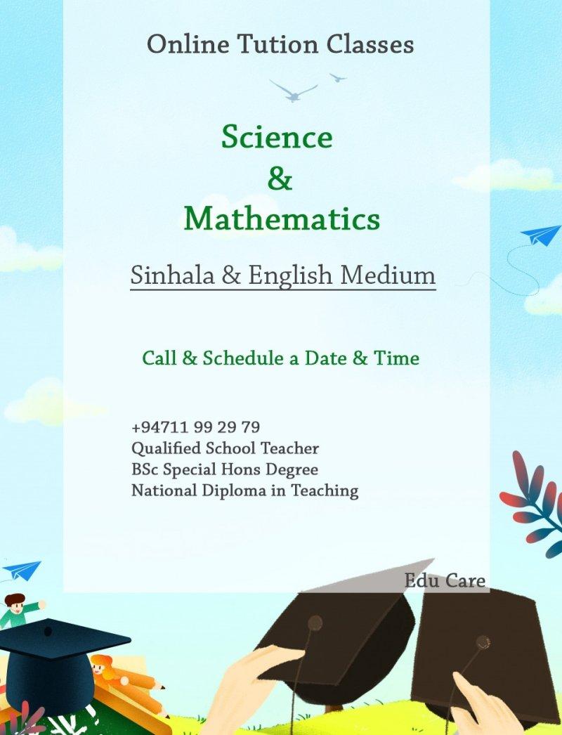 Science  Mathematics Online Classes