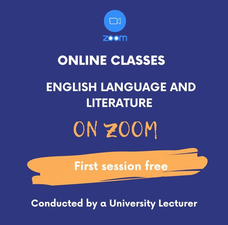 English Language and Literature Classes Conducted by a University Lecturer