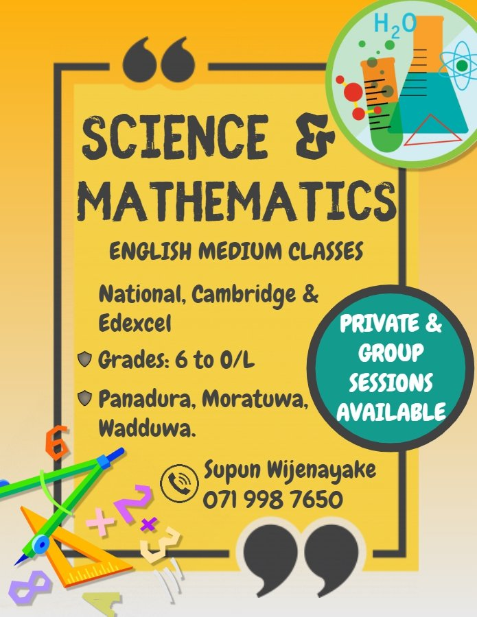 Science & Mathematics Classes (English Medium)