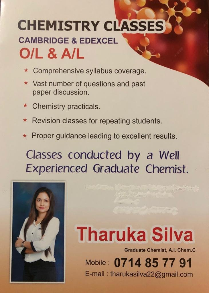 Chemistry for A/L and O/L Students