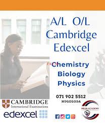 Cambridge/ Edexcel Chemistry O/L & A/L - Online, Home visit, Meen Academy