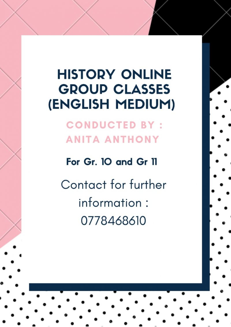 Online History Classes (Grade 10 and Grade 11)