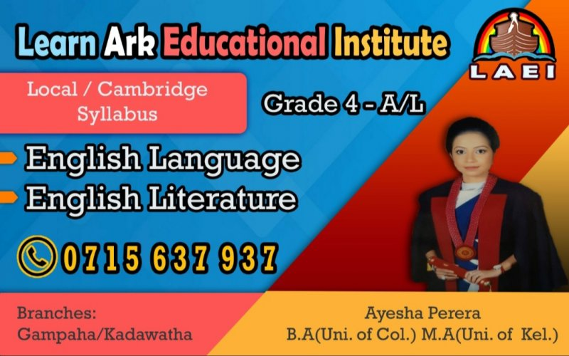 English and English Literature classes / Local & Cambridge syllabus
