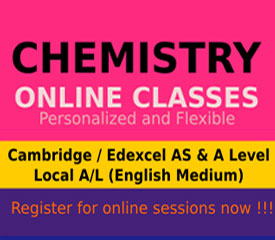 National A/L Chemistry (English medium)